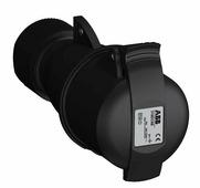 Розетка кабельная easy&safe 316ec9b,16а,3p+e,ip44,9ч,черн ABB, 2CMA103583R1000