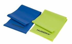 Гимнастическая лента Hudora Fitnessband, синий, салатовый