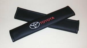 """Накладки на ремень безопасности Auto Premium """"Toyota"""", 2 шт"""
