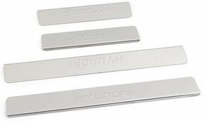 "Накладки для порогов ""DolleX"", для Hyundai Solaris (2014-2016), 4 шт"