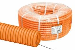 Труба гофрированная TDM ПНД d 25 с зондом 75м оранжевая, легкая SQ0413-0013