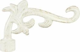 """Наконечник для карниза Уют """"Лиана"""" 26.21ТО.5395, белый, золото, диаметр 25 см, 2 шт"""