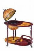 Напольный глобус-бар со столом JUFENG, d=42 см JG42004R