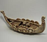Декорации из светлой керамики Декорация из светлой керамики Ладья, 35*15см