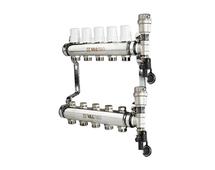 VALTEC Коллекторный блок из нержавеющей стали, в сборе, на 7 выходов (арт. VTc.588.EMNX.0607) для теплого пола