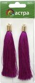 """Кисти для бижутерии """"Астра"""", цвет: фиолетовый, 9,5 см, 2 шт. 7715385"""