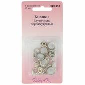 """Кнопки блузочные """"Hobby&Pro"""", цвет: перламутровый, диаметр 11 мм, 6 пар"""