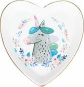 Декоративная тарелка Magic Home Единорог, белый