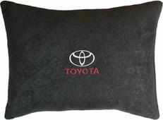 """Подушка декоративная Auto Premium """"Toyota"""", цвет: черный, 26 х 36 см"""