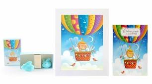 Подарочный набор детский Dream Service GS-3, 8022 синий, белый, голубой