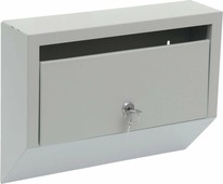 """Ящик почтовый ОТК """"Эталон"""", с замком, цвет: серый, 26 х 35 х 9 см"""