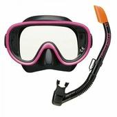 Комплект TUSA SPORT UCR0101 маска+трубка 2 клапана (Розовый)