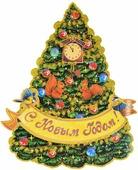 """Украшение новогоднее оконное Magic Time """"Красавица елка"""", двустороннее, 34 х 46 см"""