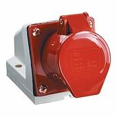 IEK Розетка кабельная 32А 3Р+PE IР44 на поверхность 380 В 124 (PSR12-032-4)