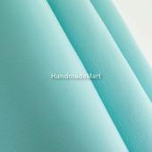 Кожа Натуральная Наппа, 1 кв. дм, Голубой «Тиффани», Мягкая, Гладкая, Толщина 0,6 мм