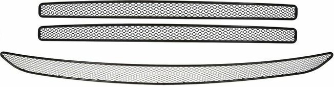 Сетка на бампер внешняя Arbori, для Toyota RAV 4, 2015->, для автомобилей без камеры, 3 шт