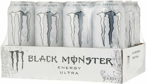 Энергетический напиток Black Monster Energy Ultra, 12 шт по 500 мл
