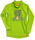 Детская лайкровая гидромайка с длинным рукавом iQ Uv Shirt Dino Kids L/s Neon Green