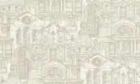 Обои Московская Обойная Фабрика (МОФ), Malex design Архитектура, белый, светло-серый, серебристый, серый, серый металлик