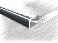 Уголок для плитки L образный из нержавеющей стали полированный 10мм 270 см