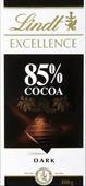 Lindt Excellence горький шоколад 85% какао, 100 г