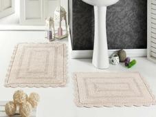 """Набор ковриков для ванной Karna """"Modalin. Evora"""", цвет: абрикосовый, 2 шт"""