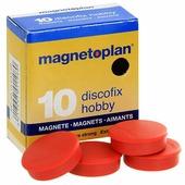 """Набор магнитов Magnetoplan """"Hobby"""", цвет: красный, 10 шт"""