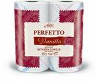 """Полотенца бумажные Aster """"Perfetto Vanilla"""", трехслойные, ароматизированные, 2 рулона"""