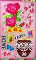 Наклейка ЛиС виниловая 29х50см, Цветы, Винил