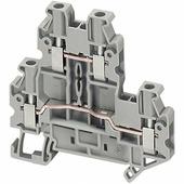 Клеммные соединения Клеммник винтовой проходной на DIN-рейку 2,5 мм.кв. (серая), 2 вх./2вых. Schneider Electric