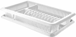 "Сушилка для посуды Plastic Centre ""Лилия"", с поддоном, цвет: мраморный, 48 х 30,5 х 8,5 см"