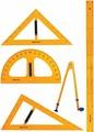 Brauberg Геометрический набор цвет желтый 5 предметов. 210383