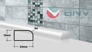 Плинтус бордюр для ванной ПВШ24 90 см