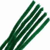 """Синель-проволока """"Астра"""", цвет: зеленый, 12 мм х 30 см, 15 шт"""