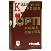 """Игральные карты Piatnik Покерные """"Opti Poker"""", 55 карт, увеличенный индекс 1419 красный красный"""