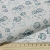 """Ткань Кустарь """"Винтажные Гортензии №1"""", цвет: белый, серый, 48 х 50 см"""