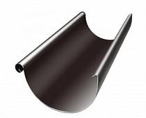 Желоб водосточный Grand Line Optima 125/90, полукруглый, 3м, темно-коричневый