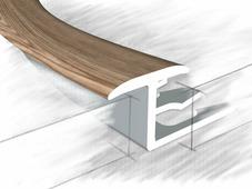 Z профиль для плитки и ламината дуб глина