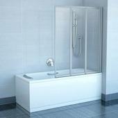 Шторка для ванны Ravak VS3 130 белый+транспарент