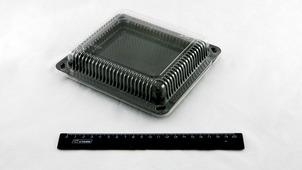 Емкость для суши С-18 182*160*14 мм (черное дно, прозрачный верх) (600шт).5657/90