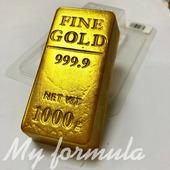 Слиток золота - форма для мыла пластик