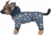 "Дождевик для собак ""Dogmoda"", двухсторонний, унисекс, цвет: деним. Размер XL"