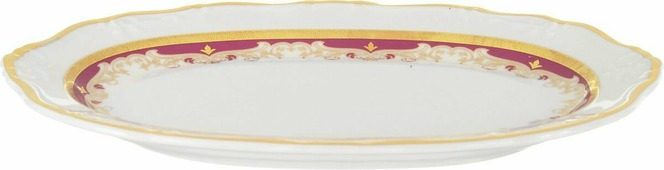 Блюдо Thun 1794 a.s. Мария-Луиза Красная лилия, овальное, БТФ0581, 24 см