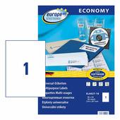 Самоклеющиеся этикетки Avery Zweckform Европа-100, белые, 210х297 мм (1 шт. на листе A4, 18 листов) {ELA027-18}