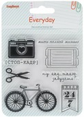 "Набор декоративных штампов ScrapBerry s ""День за днем. Стоп-кадр"", 8 шт. 7714698"