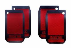 Брызговики Алекс-Авто Брызговик универсальный для внедорожников карбон металлик красный, компл 4шт, 0012/2, красный