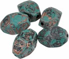 """Бусины """"Астра"""", цвет: зеленый, бронзовый, 30 мм х 20 мм, 5 шт. 7708226"""