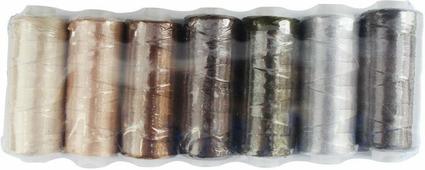 """Нить филаментная """"Астра"""", цвет: серый, бежевый, коричневый, 210D/3, 182,9 м, 7 шт"""