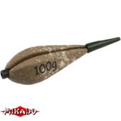 "Арт.OMK-25S-100 Груз сменный на короткой трубке с заглушкой (грушевидн./песочн.) 100гр. ""Mikado"" (упак.=10) (OMK-25S-100)"