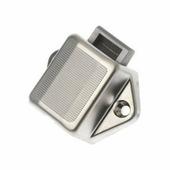 Замок для шкафов с кнопкой из серого пластика \ Zamak Roca 421520 35 x 35 мм